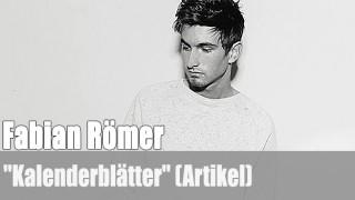 """Fabian Römer: """"Kalenderblätter"""" (Artikel)"""