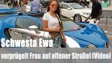 Schwesta Ewa: verprügelt Frau auf offener Straße! (Video)