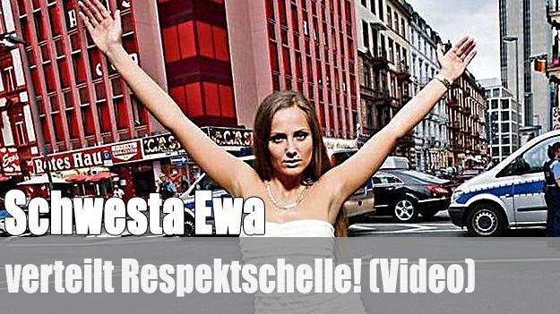 Schwesta Ewa verteilt Respektschelle!