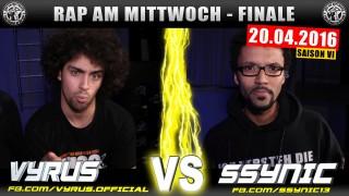 Rap am Mittwoch: Vyrus vs. SSYNIC (Video)